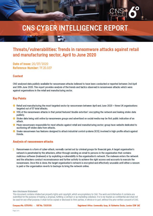 Threats & Vulnerability Report 20-07-2020 - Thumbnail